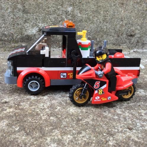 Motorbike transport truck