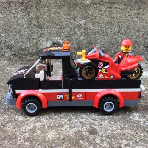 Truck and motorbike