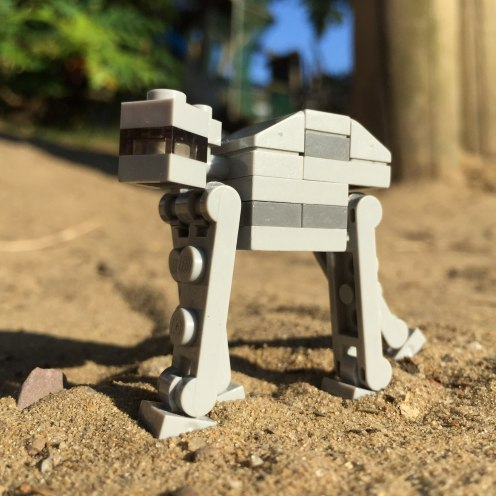 mini at-at in the sun